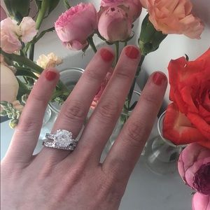 Jewelry - 🌸 NWT Cubic Zirconia Engagement Ring Set 🌸